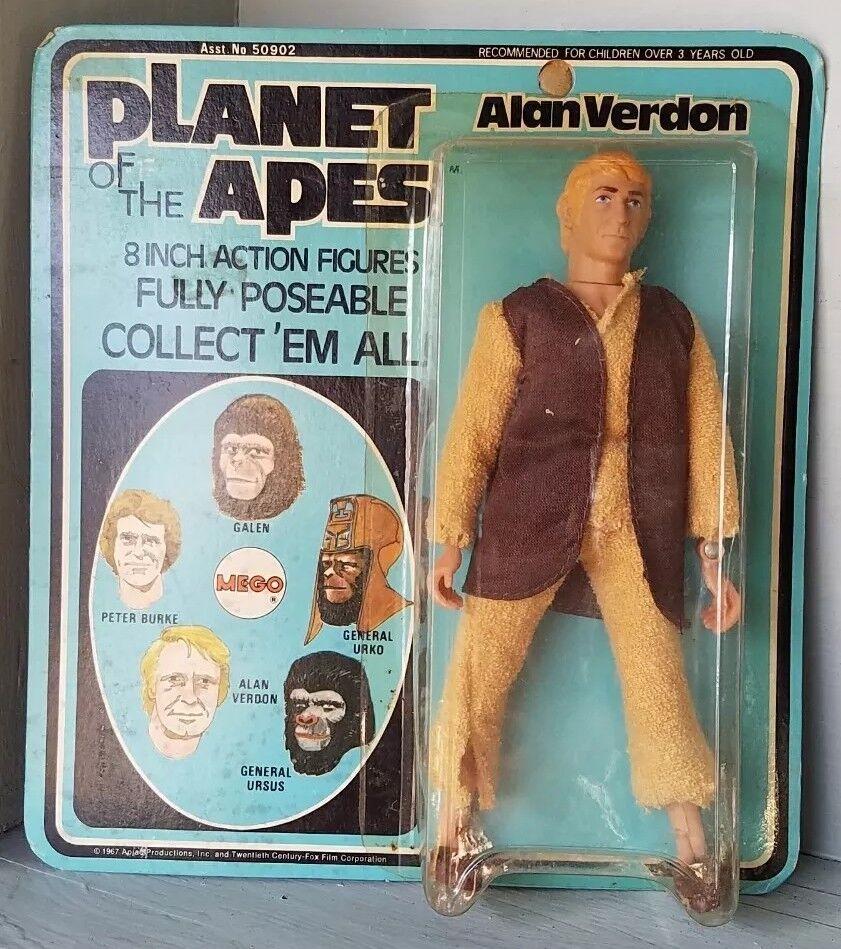 Vintage MEGO 8  1967 Planet of the Apes Apes Apes Alan Verdon MOC  POTA Carded Doll figure d296d1