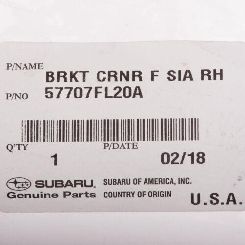 OEM 2017-2018 Subaru Impreza Front Right Bumper Corner Bracket NEW 57707FL20A