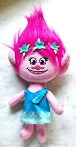 Hasbro DreamWorks Trolls Poppy Talkin' Troll Plush Doll Talking Toy EUC