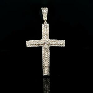 10k Yellow Gold Mens Diamond cross pendant 1.53ct Canada Preview