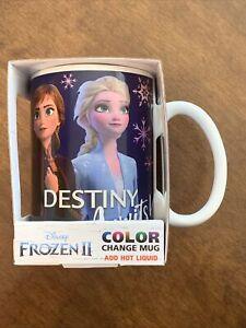 Disney Frozen 2 Color Change Mug Cup Elsa Anna Olaf Coffee Tea New Gift Box