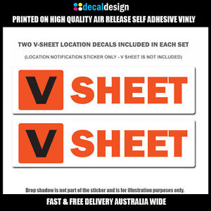 V Sheet Location Decals X Boat Safety Stickers UV Stabilised - Decals for boats australia