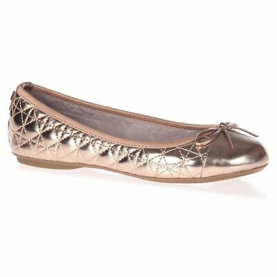 Womens Butterfly Twists Olivia Rose Gold Flat Ballet Pumps  Size