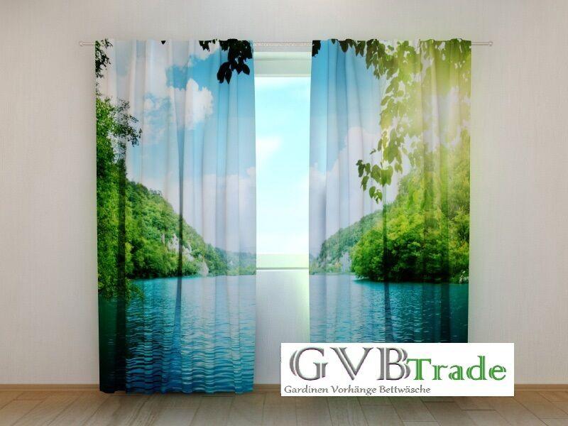 Fotogardinen  Seesicht  Fotovorhang Vorhang Gardinen Motiv Motiv Motiv 3D Qualität auf Maß | Merkwürdige Form  b92256
