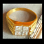 thumbnail 3 - Men's Gold Plated Cocktail Ring Sizes 8 10 14.5  Square Cubic Zirconia Fashion