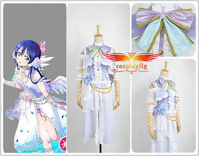Love Live! Umi Sonoda White Valentine's Day Angels Awakening Cosplay Costume