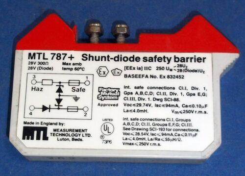 MEASUREMENT TECHNOLOGY 28V 300 OHM SHUNT-DIODE SAFETY BARRIER MTL 787+