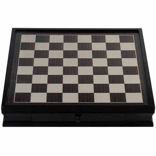 Deluxe Chess tavola Storage Drawers, Wooden Square Home Indoor  Play Lightweight  vendita outlet online