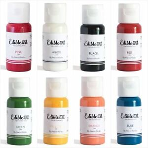 Edible-Art-Decorative-Paint-Cake-Pop-Decorating-Sugar-Craft-Brushes-Pallet