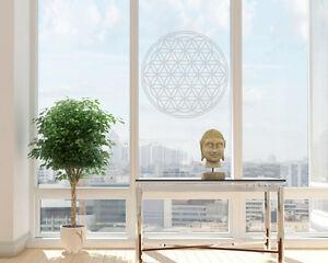 Fensteraufkleber-Blume-des-Lebens-Aufkleber-Lebensblume-Milchglas-Gravur-Laser