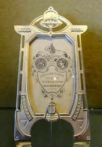 "Art Nouveau Reproduction Silver Plated Bronze Photo Picture Frame 6.5""/3.8"""