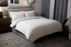 Belledorm-100-Brushed-Cotton-Flanelette-Bed-Linen-In-Pale-Grey-All-Sizes-175gsm