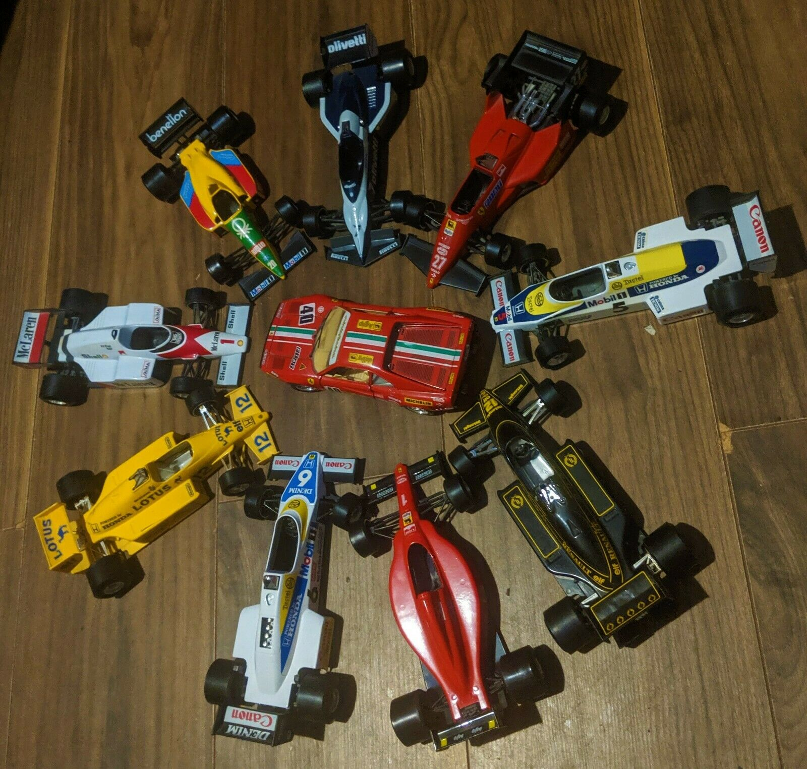 Collection Of Rare F1 Vintage Car Toys Burago