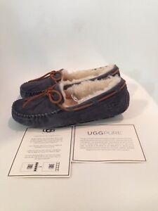 UGG-Dakota-Pewter-Moccasin-Slipper-Women-039-s-US-sizes-5-11-NEW