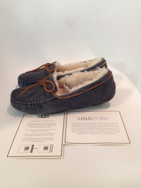 7b392fa840b UGG Australia Women 5612 Dakota Suede Sheepskin SLIPPER Shoes 7 Pewter Gray