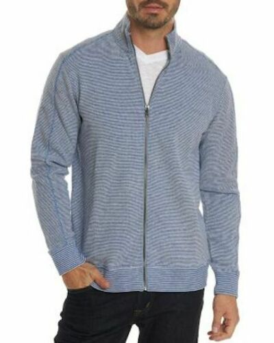 ROBERT GRAHAM Oneonta Classic Fit Sweater in Knit Blue $198