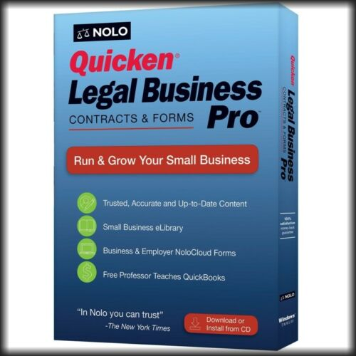 Quicken Legal Business Pro 2019, Latest Version CD /& Download in Retail Box !