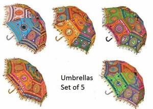 KSM Handmade Designer Beach for Event & Home Wedding Umbrella Decor Pack of 5