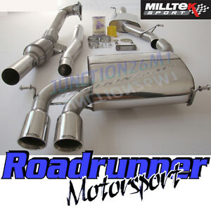 Milltek-Audi-S3-8P-Exhaust-2-0T-3-Door-Turbo-Back-Resonated-amp-RACE-Sports-Cat
