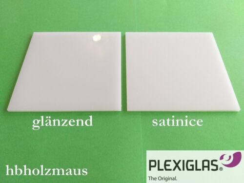 59,99€//m² 3 mm PLEXIGLAS® GS Satinice Coconut WH02 SC Zuschnitt Größe wählbar