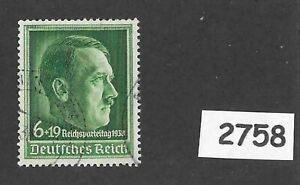 Cancelled-stamp-Adolph-Hitler-1938-Party-Congress-Third-Reich-Germany