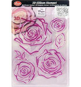 Viva-Decor-3D-Silikon-Stempel-Clear-Stamps-Motivstempel-Rose-Blaetter-400302500