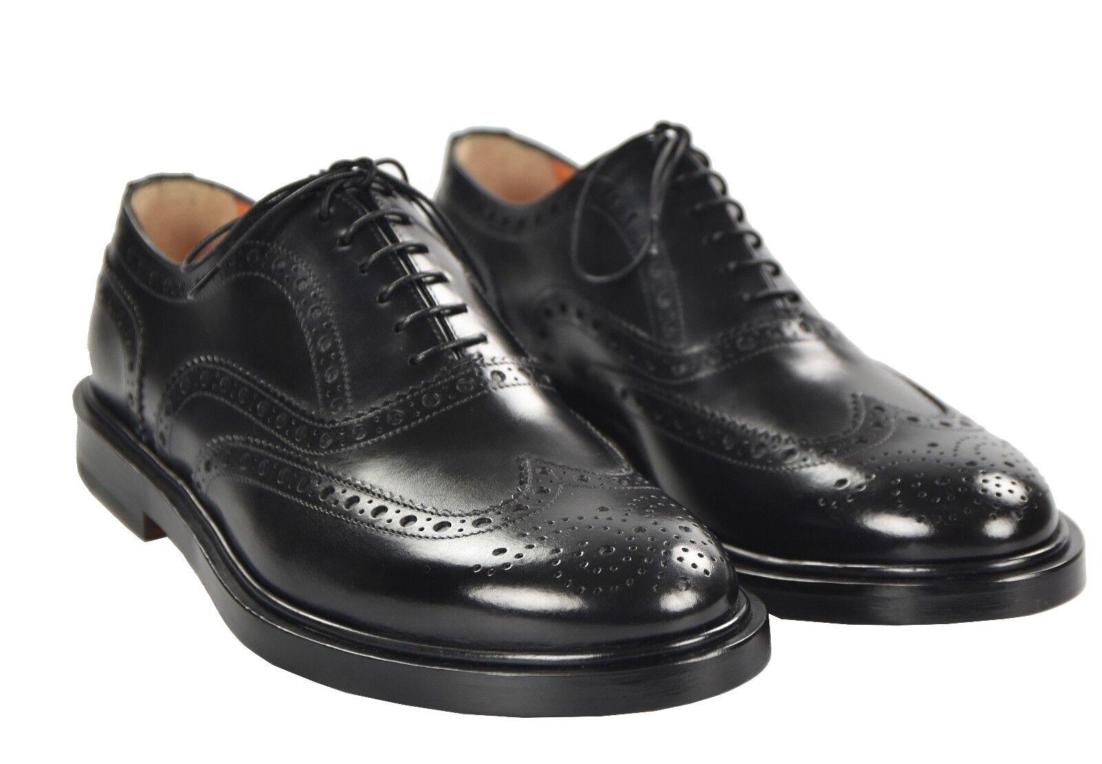 NEW 2018 SANTONI scarpe 100% LEATHER Dimensione 10.5 US 43.5 EU 18SANW4