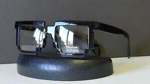 132a456be1d6 Details about Designer 8 Bit Pixelated Nerd Glasses Clear Lens Black Frame  Square Eye Glasses