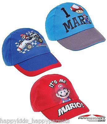 New Boys Official Nintendo SUPER MARIO Mariokart Baseball CAP Sun Hat 52cm 54cm