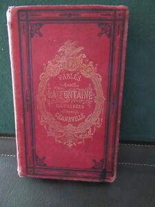LIVRE-FABLES-LA-FONTAINE-ILLUSTREES-1877-ILLUSTREES-PAR-GRANVILLE
