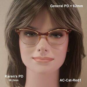 ART-CRAFT-Cat-Eye-True-Vintage-Antique-Eyeglasses-and-Case