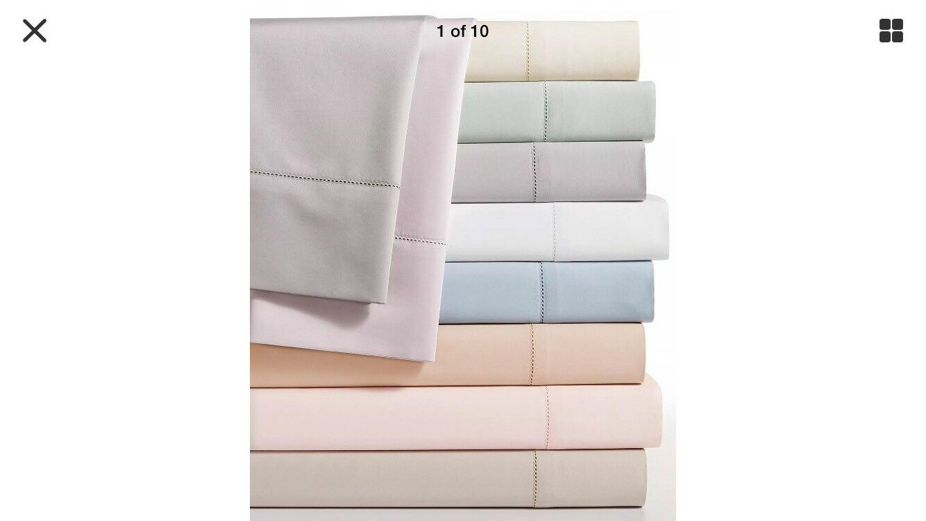 Hotel Collection 680 TC Supima Cotton Queen Extra Deep Fitted Sheet WHITE, 210