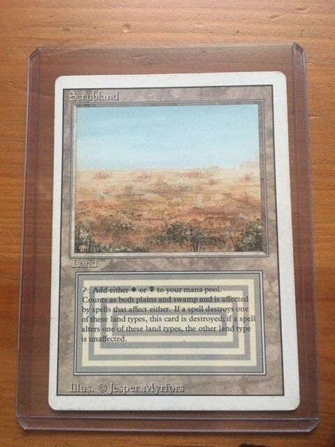 Scrubland MTG, Revised Edition 1994 (3ED) - Lightly Played