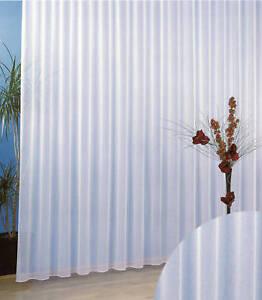 Gardinen Stores Vorhang Sablé Transparent Weiß Kräuselband Store