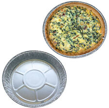 Small Aluminium Foil Dishes Quiche Pie Flan Cake 28mm Deep x 50 Fruit Baking