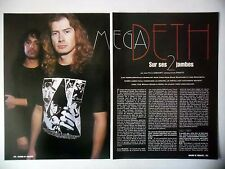 COUPURE DE PRESSE-CLIPPING :  MEGADETH [3pages] 05/2001 Dave Mustain, World...