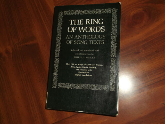 The Ring of Words : An Anthology of Song Texts (1973, Paperback, Reprint)