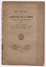 Le vitrail de la compassion de la Vierge à l'église de la Ferté-Bernard 1886
