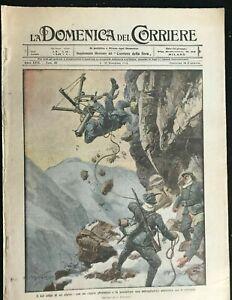DOMENICA-DEL-CORRIERE-Italian-Newspaper-with-WWI-WW1-Illustrations-Dec-1915