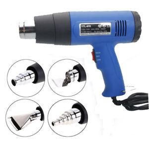 1500W-Heat-Gun-Hot-Air-Wind-Blower-Dual-Temperature-4-Nozzles-Power-Heater-New