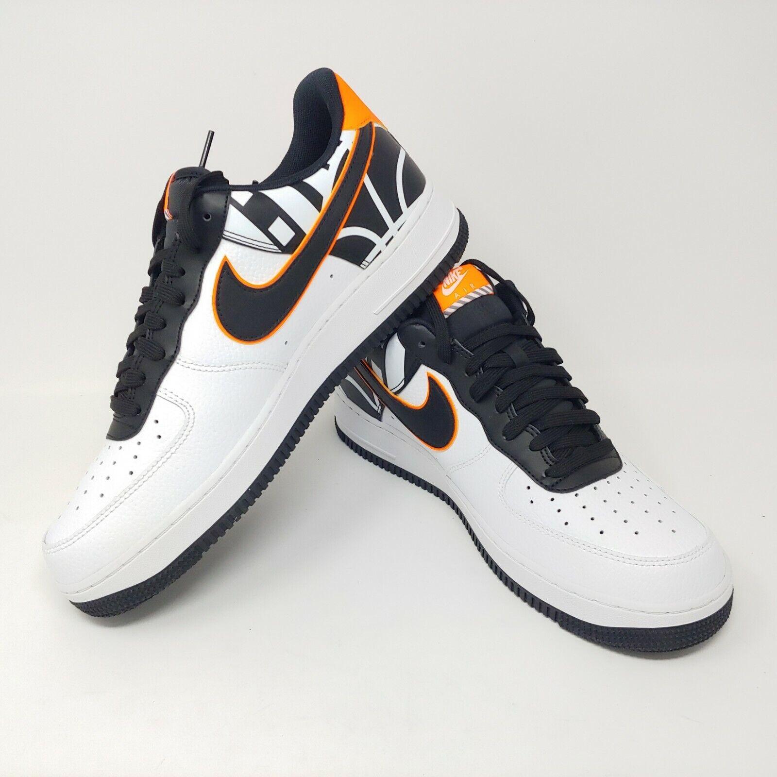 Nike Air Force 0.3m07 Lv8 Weiß Weiß Weiß Schwarz Neon Orange Af1 Niedrige Turnschuhe 097d9f