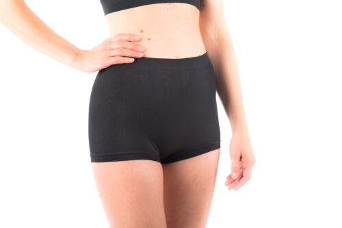 6 X Ladies Boy Shorts High Waist Wicking Microfibre Boxershorts Running Seamless
