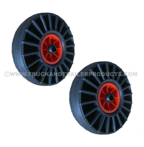 Dinghy Launching Wheels - Pair- 250mm - Hard Rubber Wheel - Boat