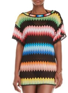 5c8d160bb1 NWT MISSONI MARE Chevron Knit ZigZag Short Beach Dress Tunic Cover ...