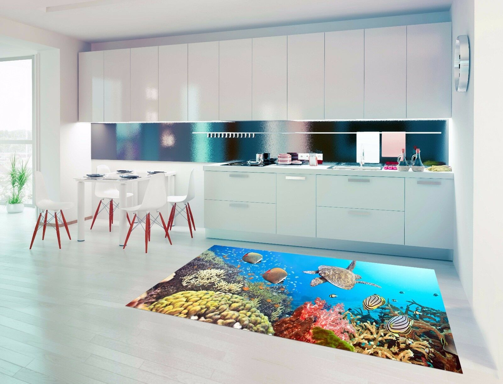 3D Water Grass 728 Kitchen Mat Floor Murals Wall Print Wall AJ WALLPAPER UK Kyra