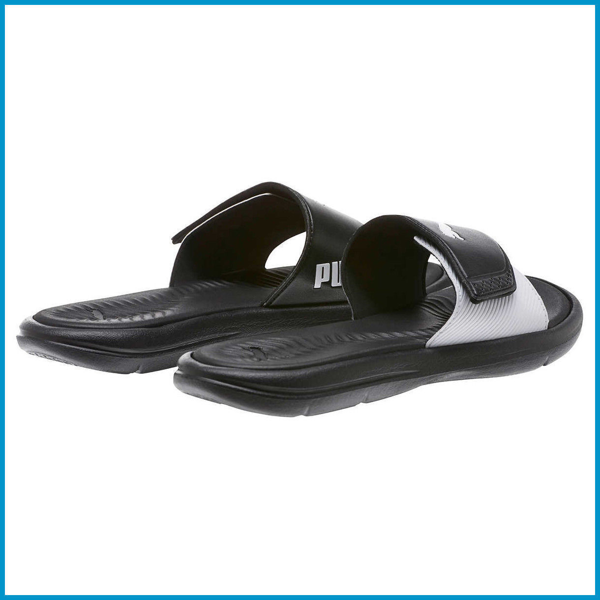 NEW - Puma Women's Surfcat Black Slide Slides Slip on Black Surfcat Sandals - size 7 08c6ab