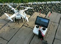 "DJI PHANTOM 2 ""SPIDER"" Multicopter Drohne+FPV+Zenmuse Gimbal H3-3D+MEGA ZUBEHÖR!"