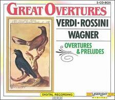 Great Overtures by Verdi Rossini & Wagner Box Set CD Nov-1995, 3 Discs