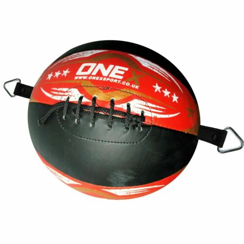 1x Leather Double End Dodge Speed Ball MMA Boxing Floor to Ceiling Punch Bag Um