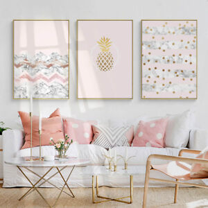 Image Is Loading Pineapple Marble Canvas Nordic Poster Abstract Wall Art